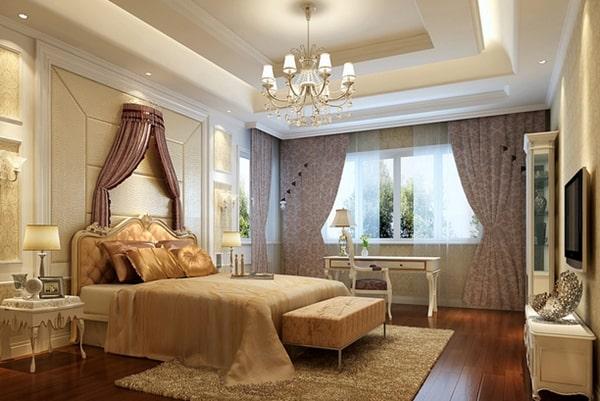 Đèn chùm cho phòng ngủ sang trọng
