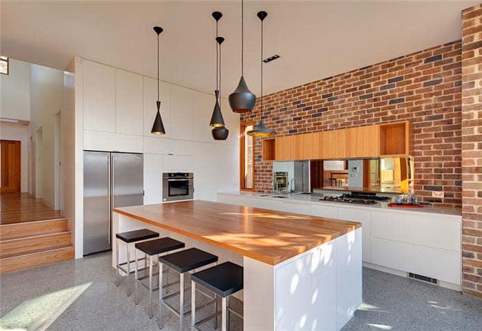 Đèn thả trần cho không gian bếp