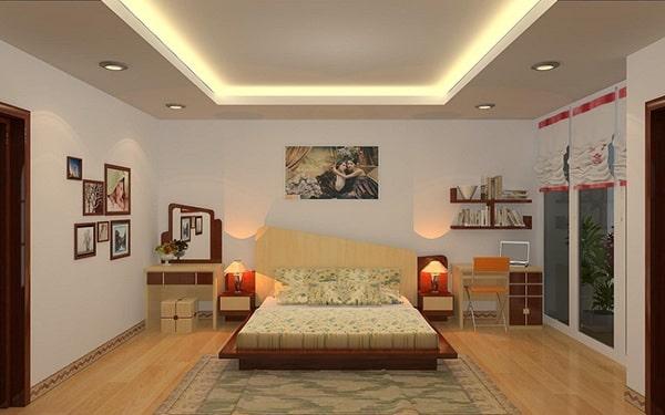Đèn hắt trần cho không gian phòng ngủ