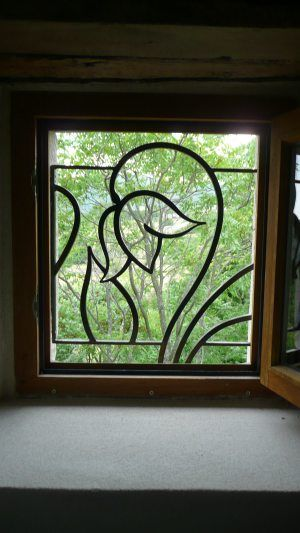 Mẫu song cửa sổ hình hoa sen