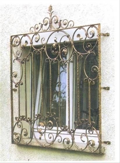 Mẫu song cửa sắt vàng đồng