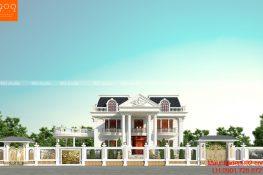 Ngắm nhìn mẫu nhà 2 tầng hình vuông đẹp ngây ngất lòng người