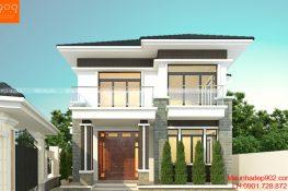 Thiết kế nhà trên đất xéo diện tích 103m2 2 tầng