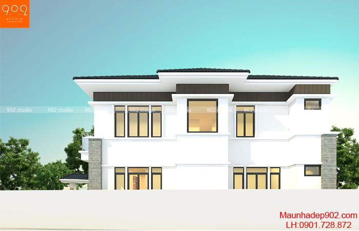 Bản vẽ thiết kế nhà 2 tầng - BT183