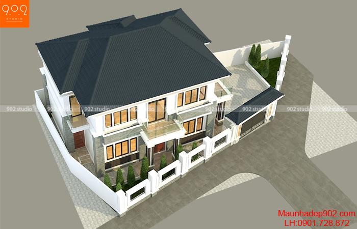 Thiết kế nhà 2 tầng đẹp - BT183