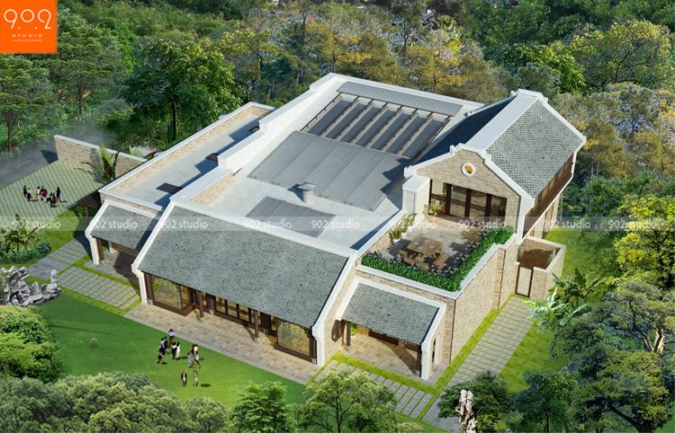 Thiết kế biệt thự nhà vườn sang trọng và đẳng cấp – BT80