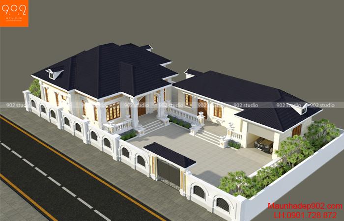 Mẫu nhà 1 tầng mái thái đẹp – BT179