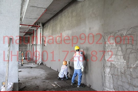 Phương pháp trát tường xây dựng đòi hỏi sự tỉ mỉ và chi tiết