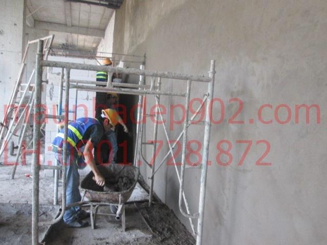 Trát tường là một trong những công đoạn cần thiết trong xây dựng