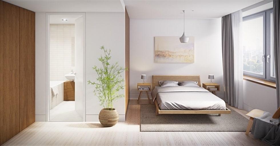 Phòng ngủ khép kín mang lại sự hiện đại và tiện nghi nhưng nếu không xử lý tốt có thể tạo nên không khí bí bách
