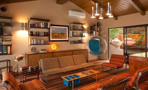 Phong cách nội thất Retro mang tới sự hoài cổ nhưng không kém phần hiện đại
