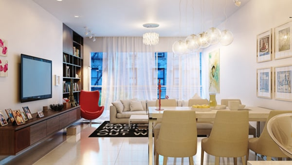 Phong cách nội thất đương đại mang tới sự tiện nghi và thoải mái