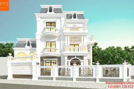 Bản vẽ biệt thự 3 tầng tân cổ điển nhà cô Thu - BT187