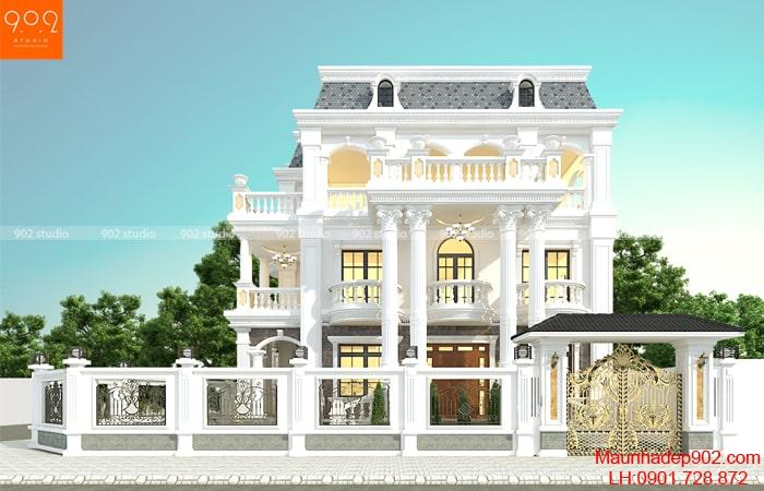 Hình ảnh biệt thự 3 tầng tân cổ điển ở Bắc Ninh - BT188