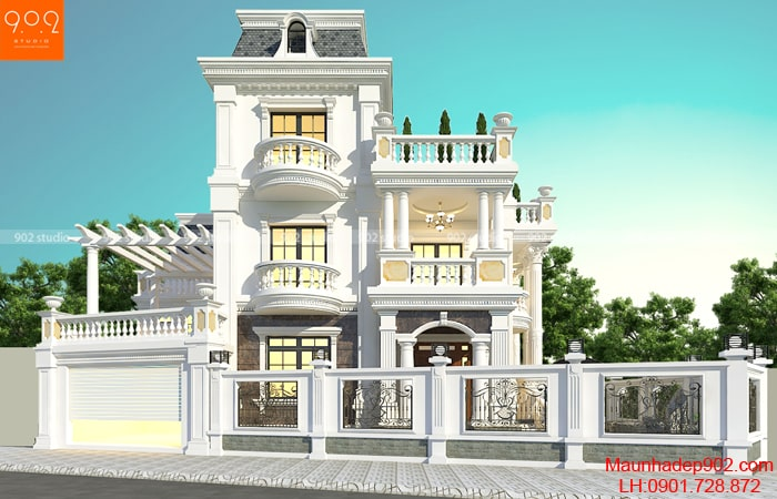 Biệt thự 3 tầng nhà cô Thu - Bắc Ninh - BT188