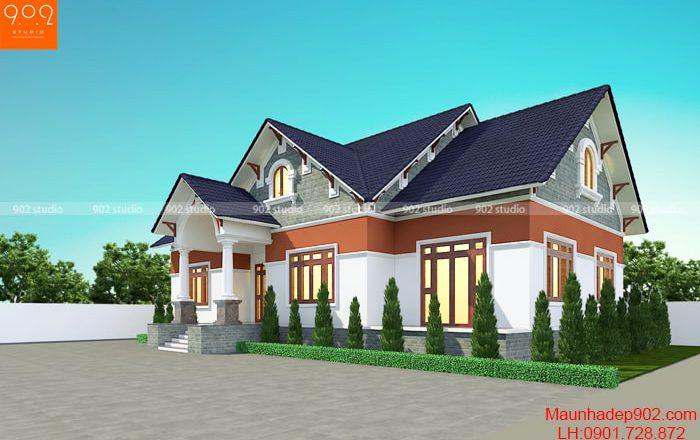 Nhà 1 tầng 1 tum mái thái đẹp – BT189