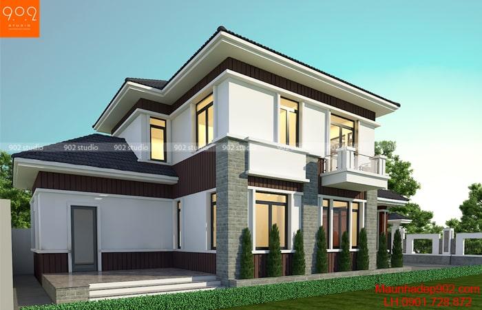 Hình ảnh 3: Mẫu thiết kế biệt thự 2 tầng nhà anh Sướng - Thái Nguyên