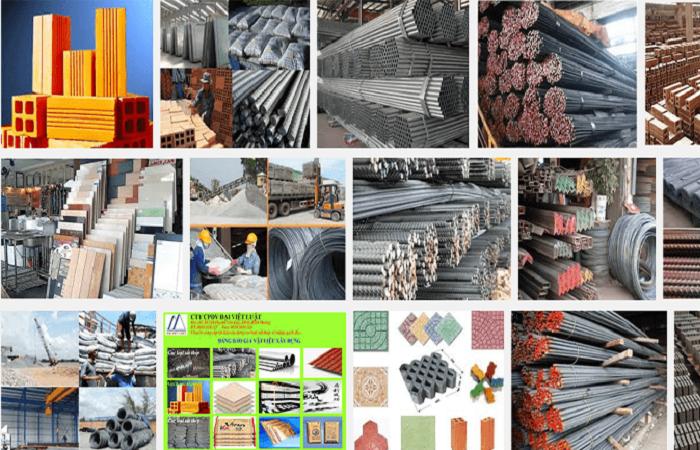 Công bố bảng kê nguyên vật liệu xây nhà