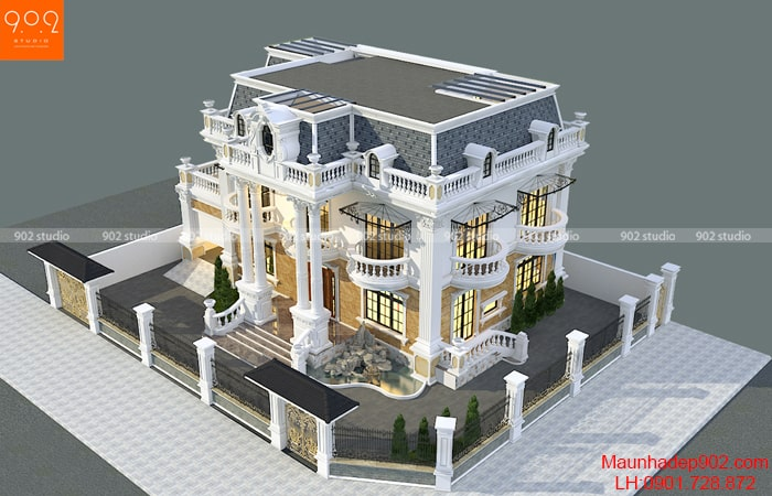 Nhà 2 tầng 1 tum mái marsand nhà Cô Sim – BT191