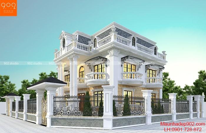 Thiết kế nhà 2 tầng 1 tum mái marsand nhà Cô Sim – BT191
