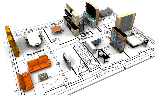 Hồ sơ thiết kế nội thất cần thể hiện được đầy đủ màu sắc, đồ nội thất bên trong