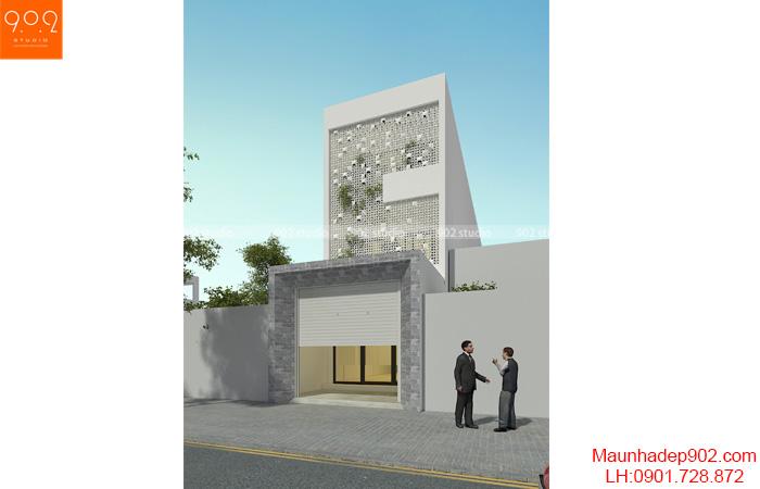 mẫu nhà phố 3 tầng hiện đại NP25