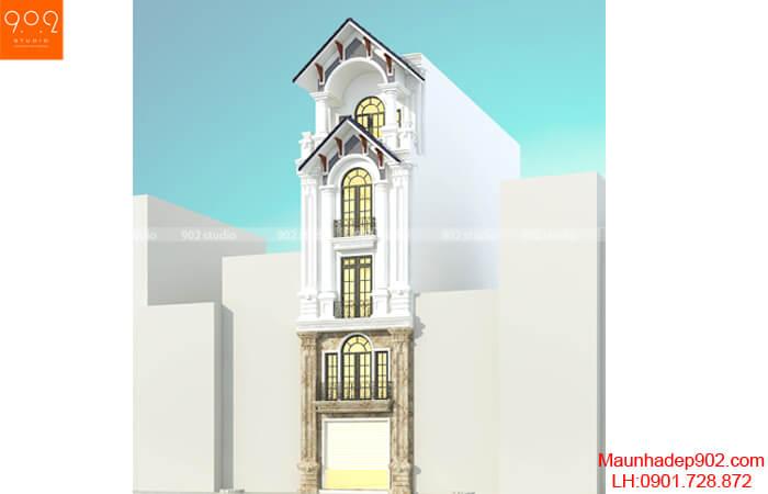 Thiết kế nhà phố 5 tầng đẹp