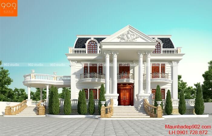 Mẫu nhà 2 tầng đẹp nhất 2019 - Mẫu 29