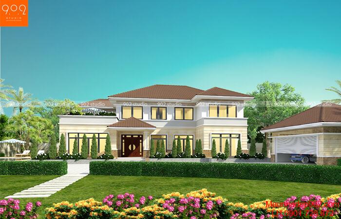 Mẫu nhà 2 tầng đẹp nhất 2019 - Mẫu 10