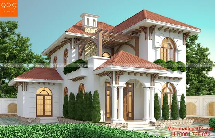 Mẫu nhà 2 tầng đẹp hiện đại - Mẫu 3