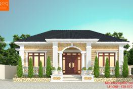 Mẫu nhà 1 tầng đẹp 2019 dành cho mọi gia đình - BT200