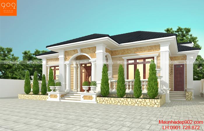 Thiết kế nhà 1 tầng đẹp nhà anh Hợi ở Thanh Hóa - BT200