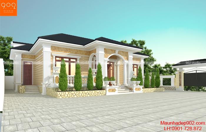 Nhà 1 tầng đẹp rẻ được xây dựng nhiều - BT200