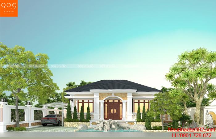 Mẫu biệt thự 1 tầng đẹp nhất 2020 - BT201