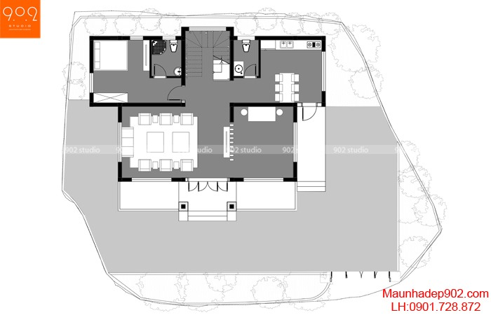 Nhà đẹp mái thái 2 tầng hứa hẹn lên ngôi năm 2020
