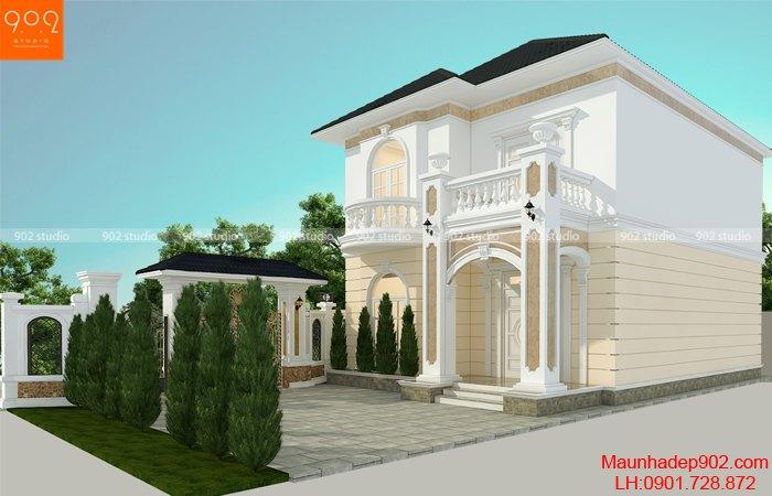 Thiết kế nhà 2 tầng 100m2 đơn giản đẹp