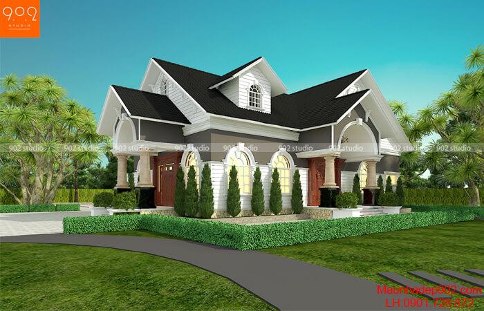 Thiết kế biệt thự nhà vườn 1 tầng đẹp - BT204