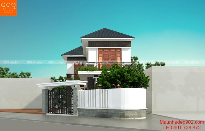 Thiết kế biệt thự 2 tầng mái thái- BT206