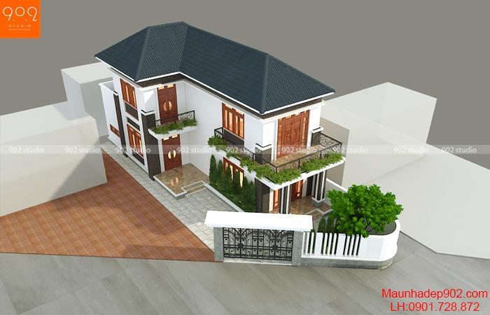 Phương án thiết kế biệt thự hai tầng ở Phú Thọ - BT206