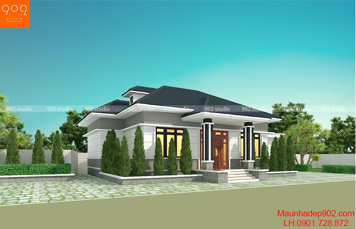 Thiết kế nhà vườn đẹp hiện đại - BT207
