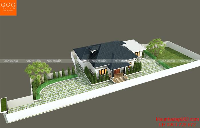 Thiết kế biệt thự 1 tầng ở Sơn La - BT207