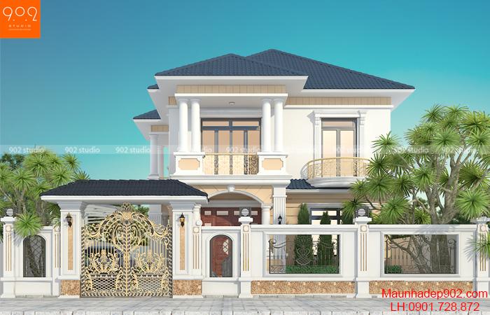 Thiết kế biệt thự hai tầng ở Hưng Yên - BT208
