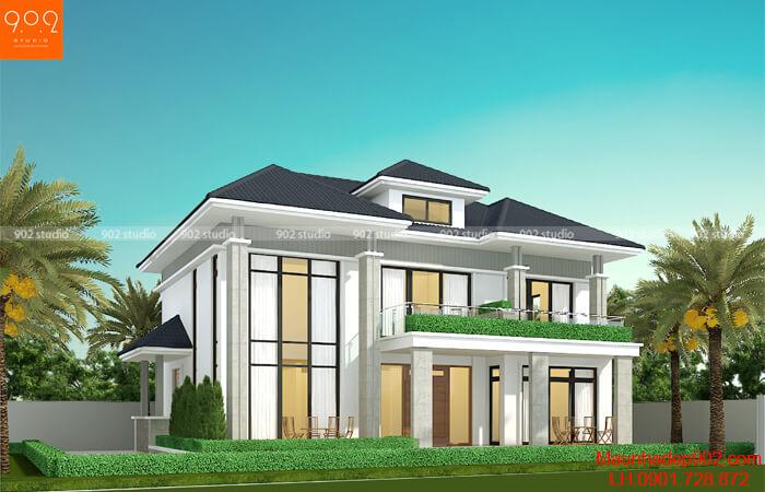 Thiết kế nhà 2 tầng kiểu hiện đại CỰC HOT tại Phú Thọ