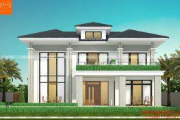 Thiết kế nhà 2 tầng kiểu hiện đại CỰC HOT tại Phú Thọ- BT208